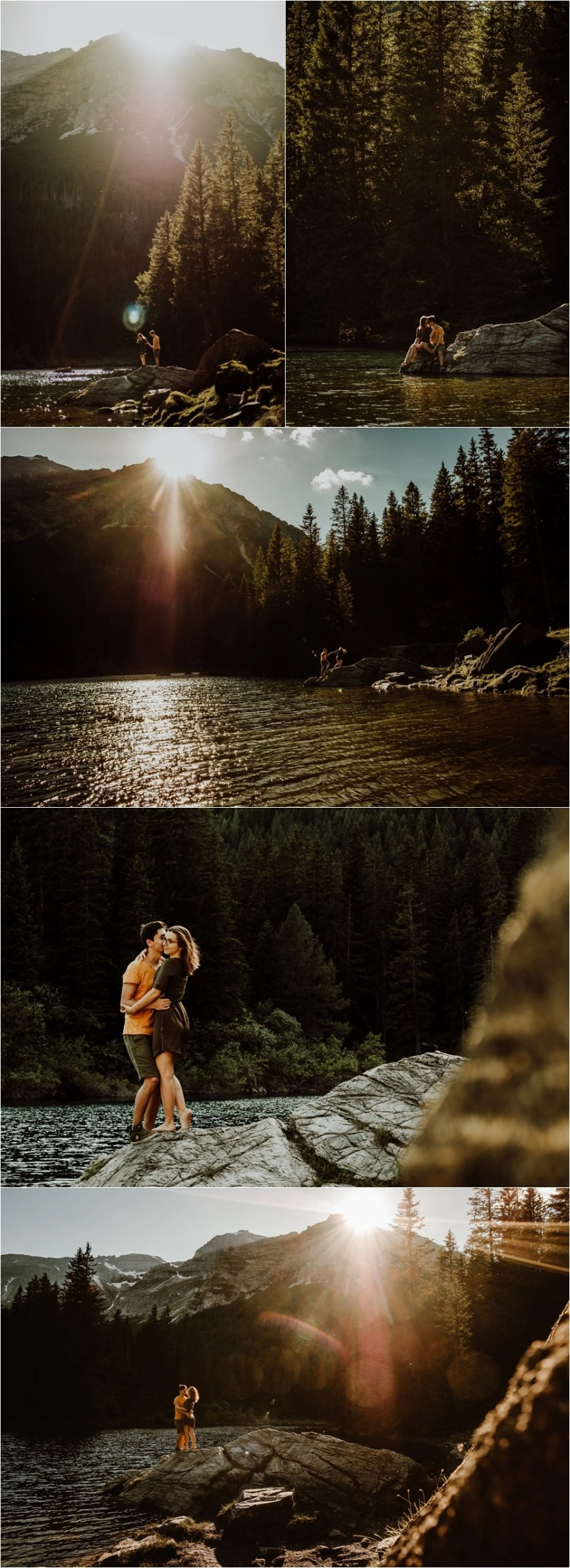 Adventure engagement session at Lake Obernberg in the Tirol region of Austria by Wild Connections Photography
