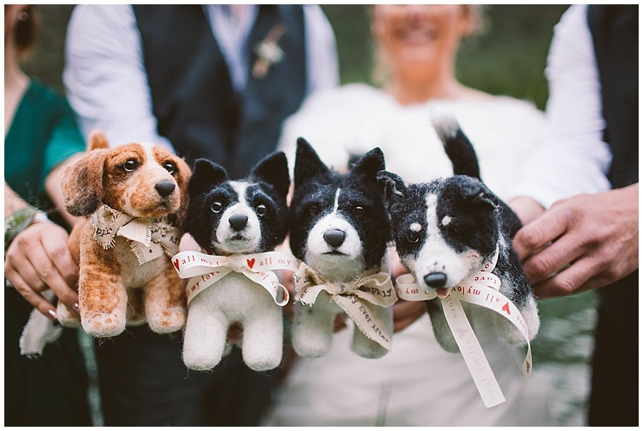 St Johann in Tirol Elopement the party holds the felt shelter pups dogs by Wild Connections Photography