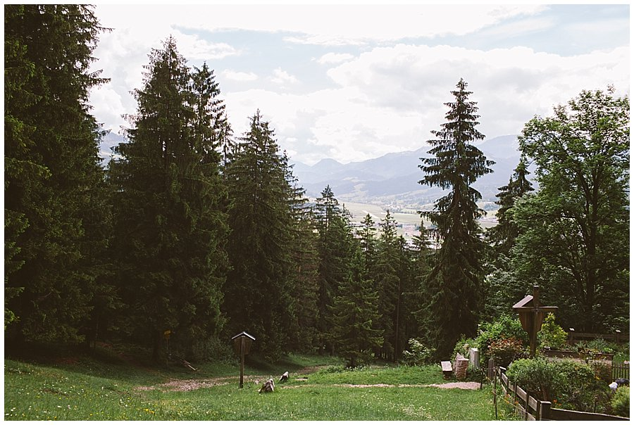 St Johann in Tirol Elopement the view from the ceremony location by Wild Connections Photography