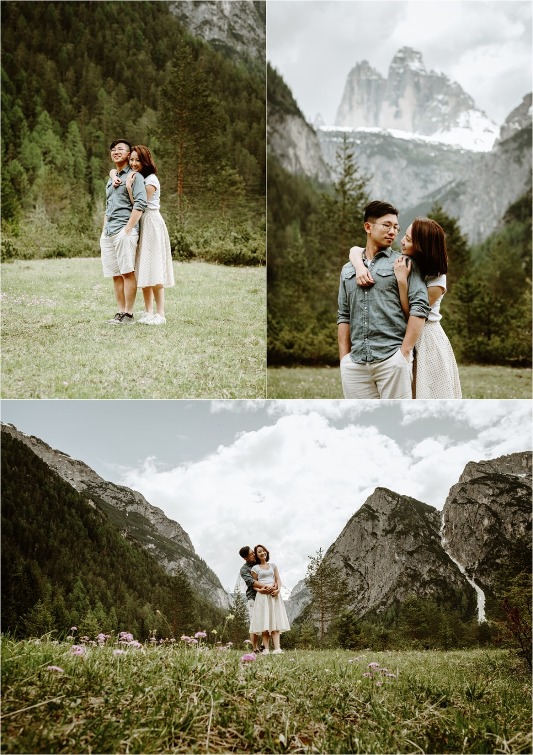 A green alpine meadow in the Italian Alps. Photo by Wild Connections Photography Dolomites Wedding Photographer