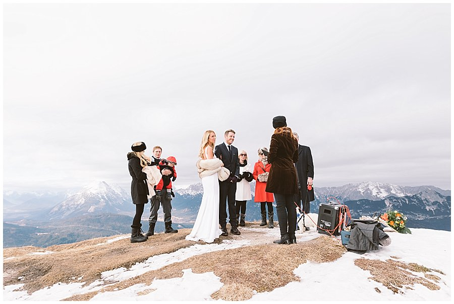 Seefeld mountain top elopement