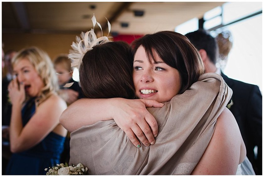Bec hugs her mum with tears in her eyes