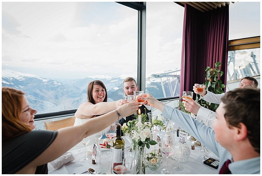 The top table toasts with Flugerl drinks