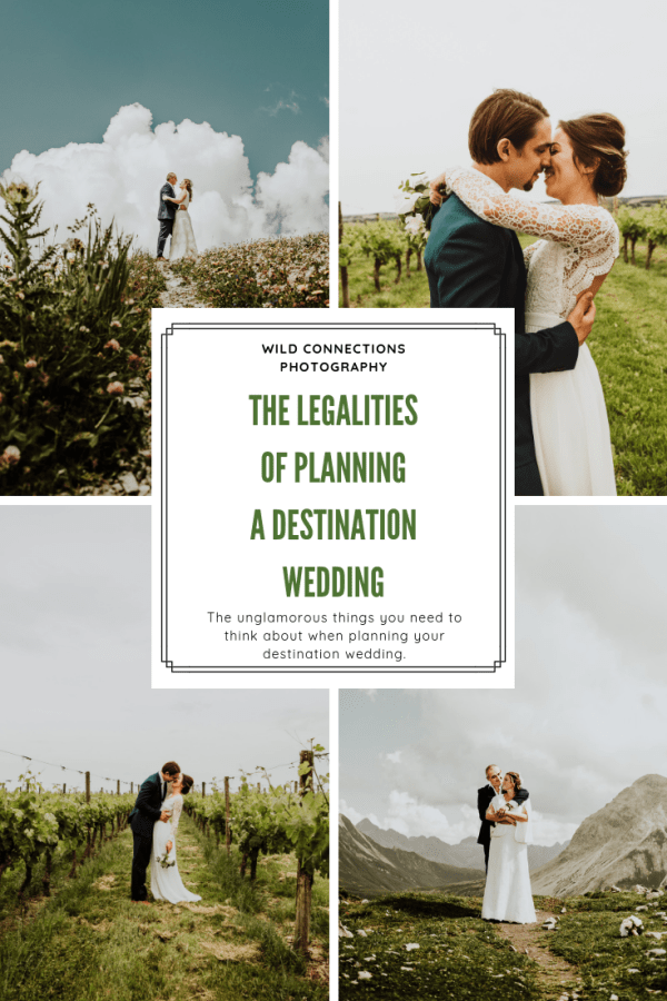 The legalities of planning a destination wedding pinterest graphic