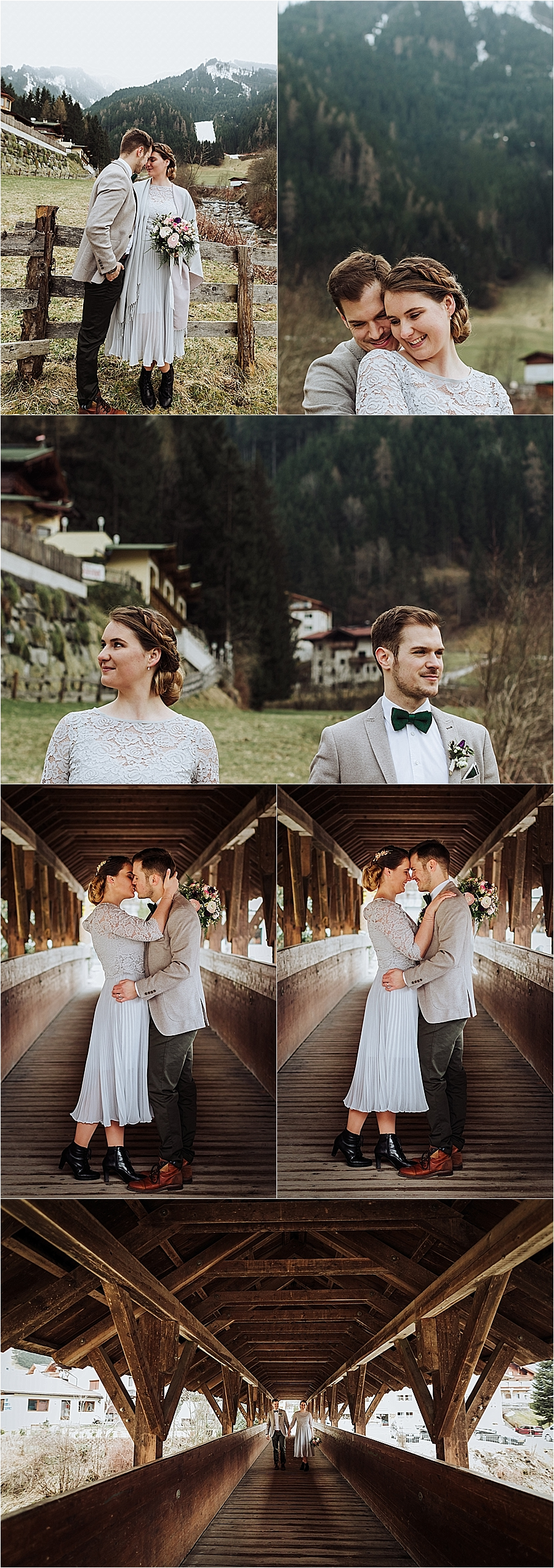 Springtime feels for this winter mountain elopement in Mayrhofen Austria by Wild Connections Photography