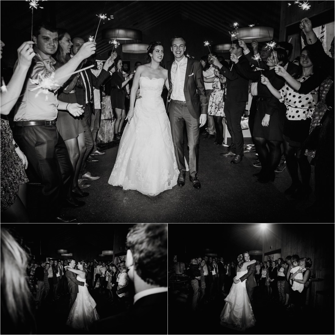 A sparkler exit in to a first dance at the Schmiedhofalm by Wild Connections Photography