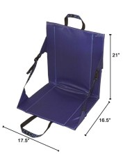 Crazy Creek Long Back Folding Outdoor Chair Royal Blue