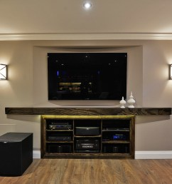 home theatre with 11 5 speakers in basement [ 1100 x 734 Pixel ]