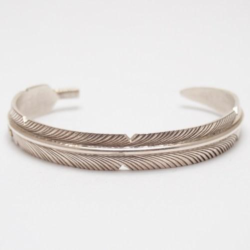 Bracelet Plume Argent Sterling