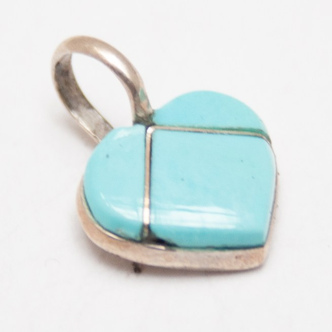 Small Turquoise Heart Pendant