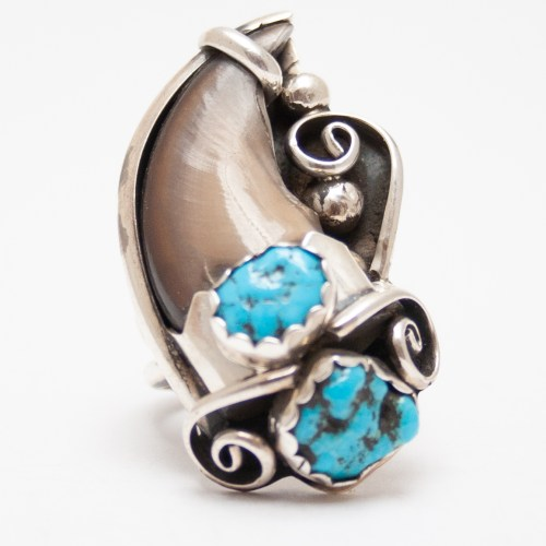 Bear Claw Turquoise Ring