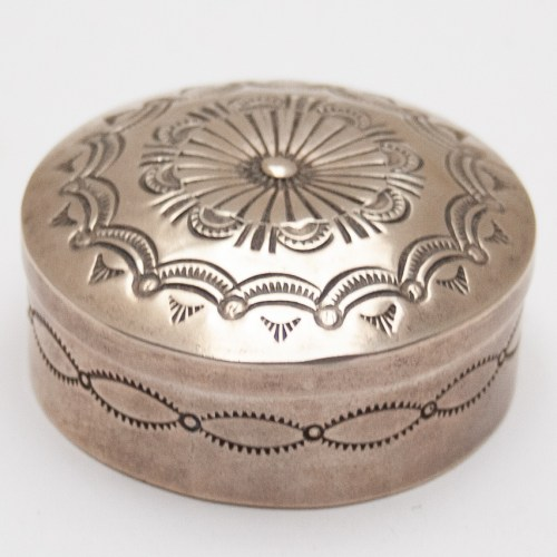 Sterling Silver Round Box