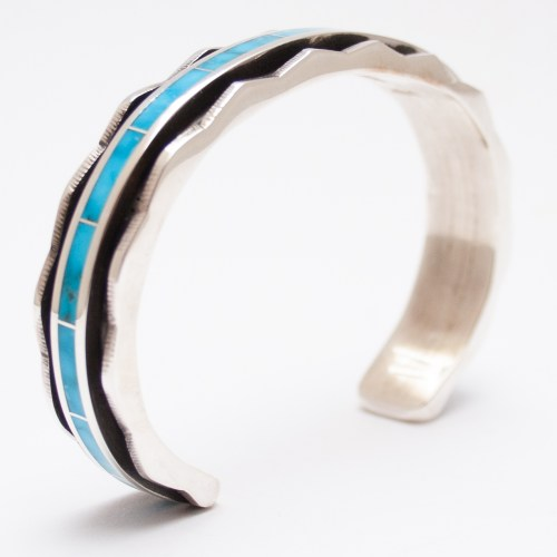 Large Larry Loretto Shadow Box Turquoise Cuff