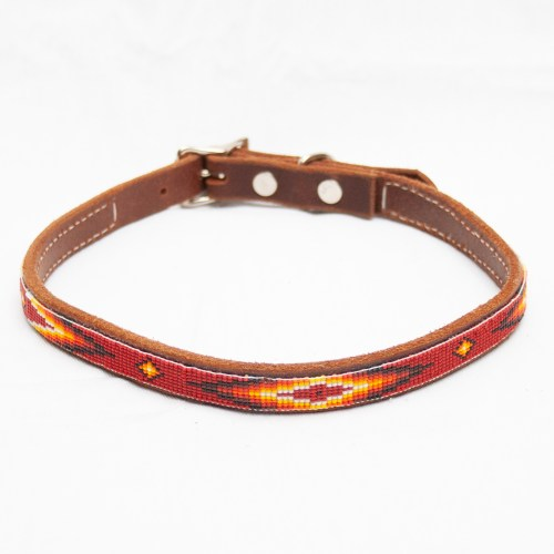 Red Beaded Dog Collar