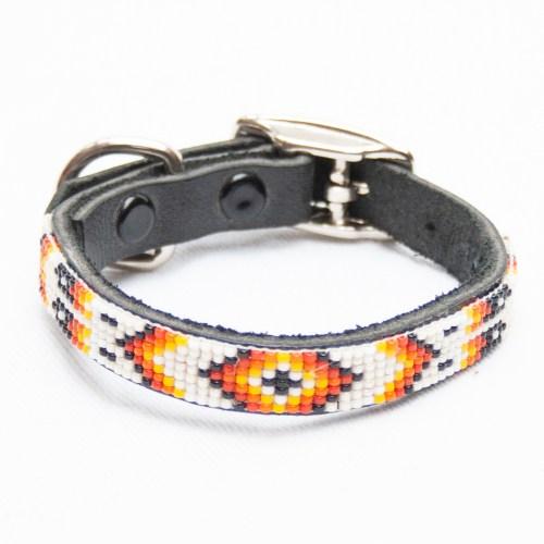 Zuni White Dog Collar