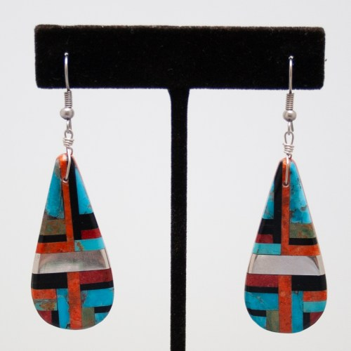 Zuni Mozaic Slab Earrings