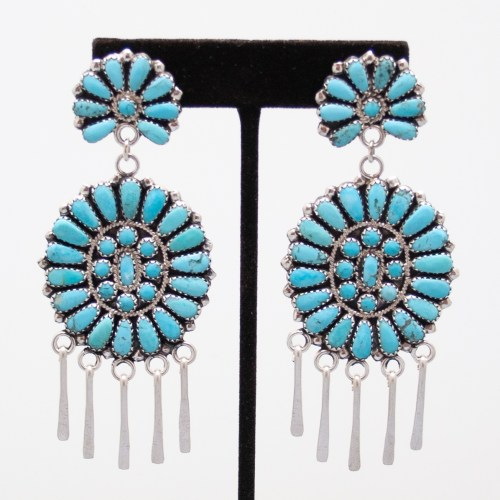 Turquoise Sunburst Earrings