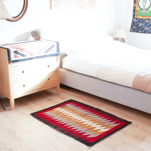 1950's Navajo Bedroom Rug Storm Design