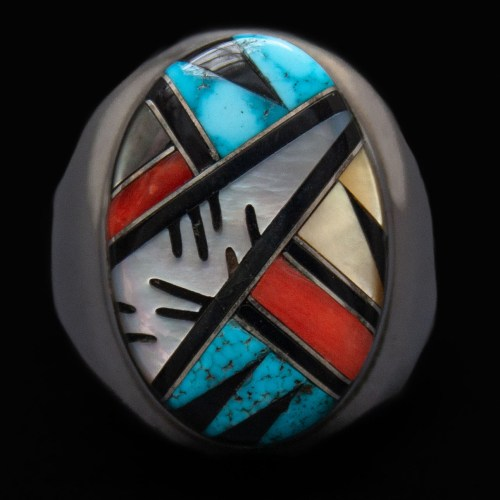 Elecario Cleo Kallestewa Inlay Ring