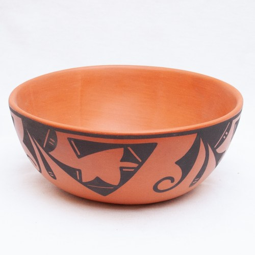 Eileen Yatsattie Native Terracotta Bowl