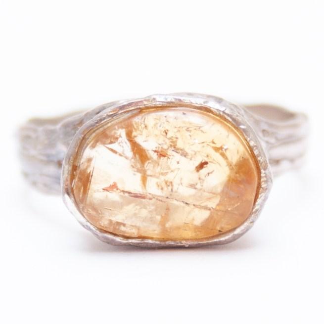 Golden Topaz ring