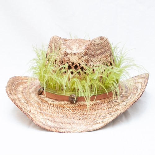 Green Feather Festival Hat