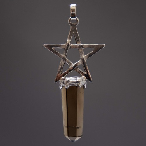 Golden Citrine Sterling Silver Pentacle Pendant