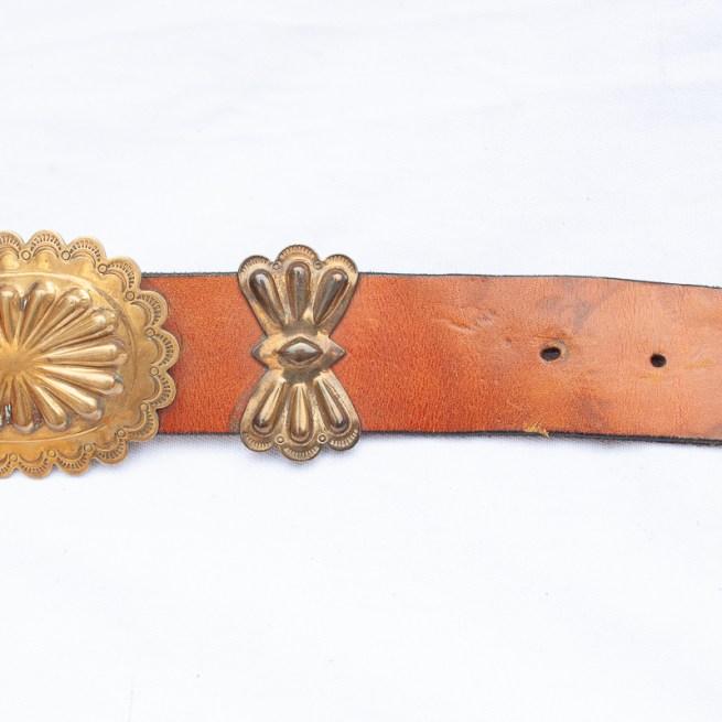 Vintage Navajo brass concho belt