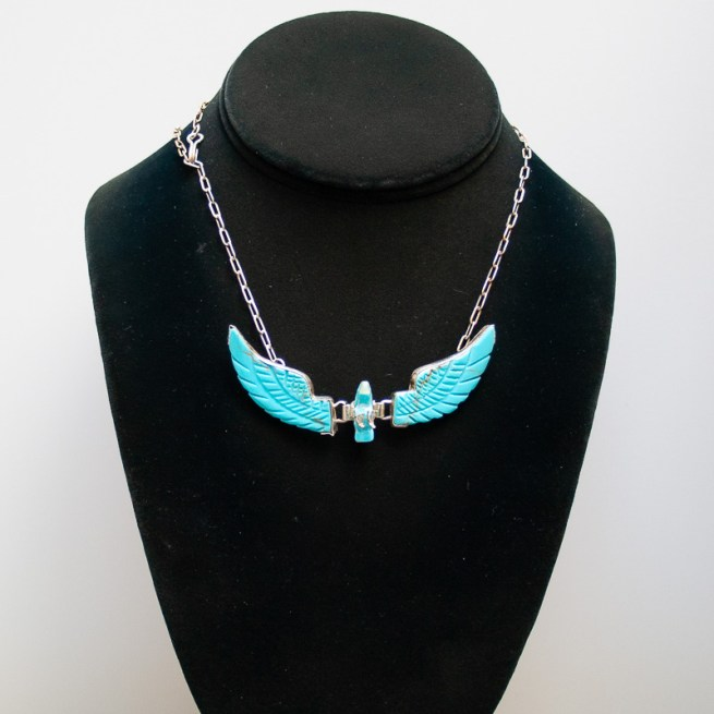 Small Turquoise Eagle Necklace