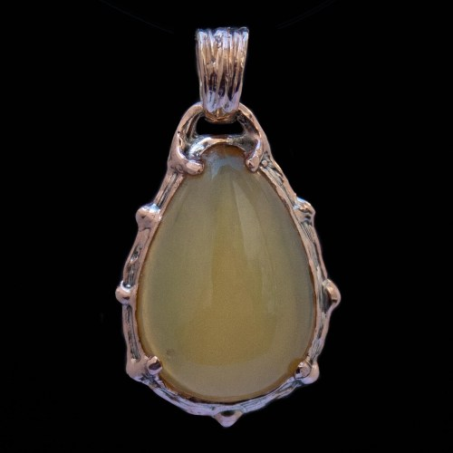 Gold Yellow Opal Pendant
