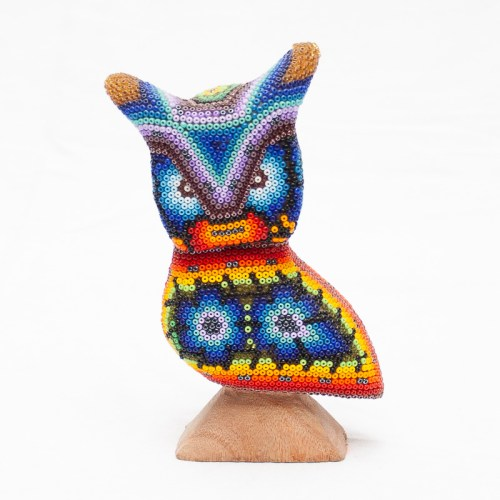 Small Huichol Beaded Owl