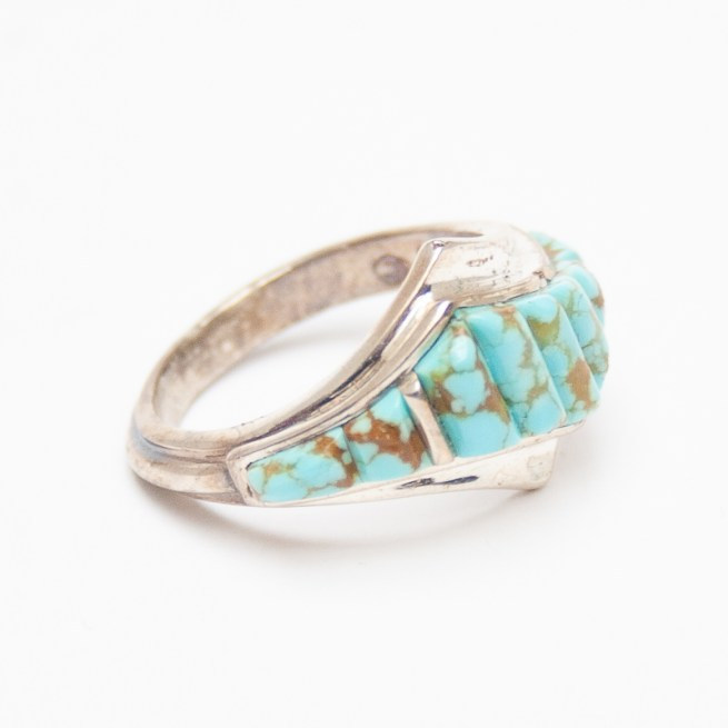 Pale Thin Turquoise Ring