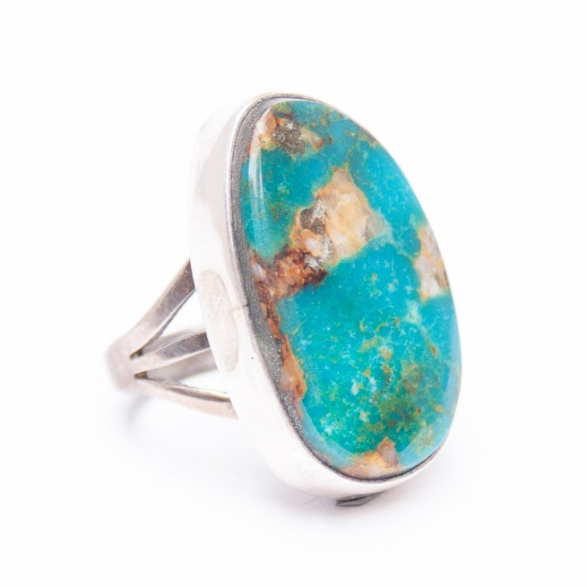 Blue Green Turquoise Ring