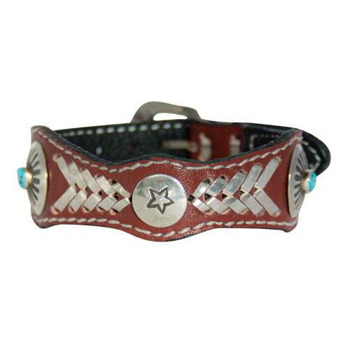 Brown Leather Turquoise Bracelet