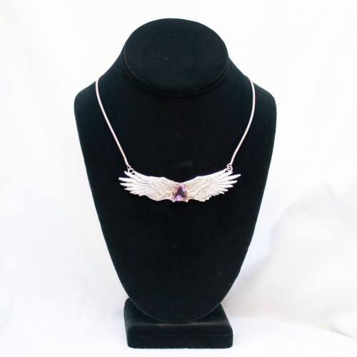 Amethyst Angel Necklace