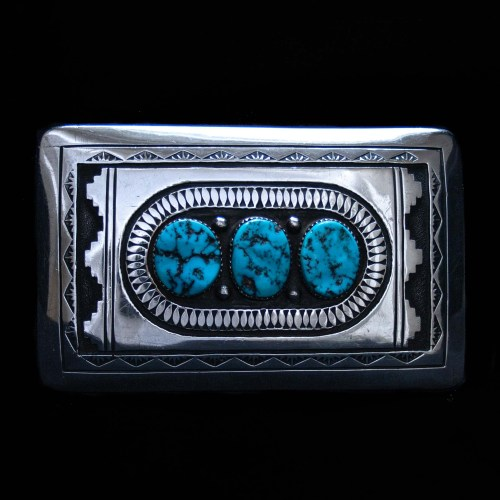 Howard Begay Turquoise Belt Buckle