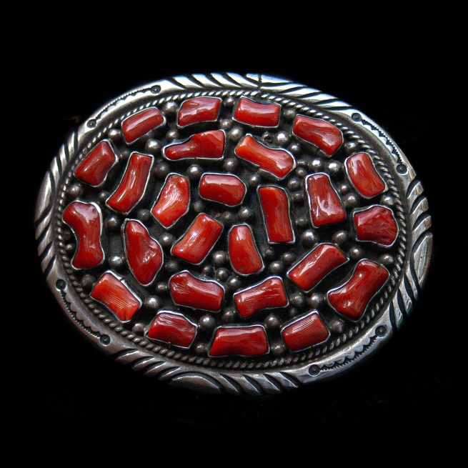 Tommy Moore Coral Belt Buckle