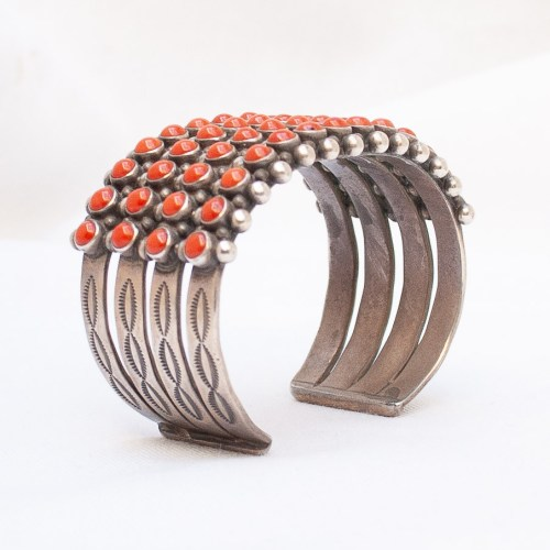 Leo Feeney Red Coral Cuff Bracelet