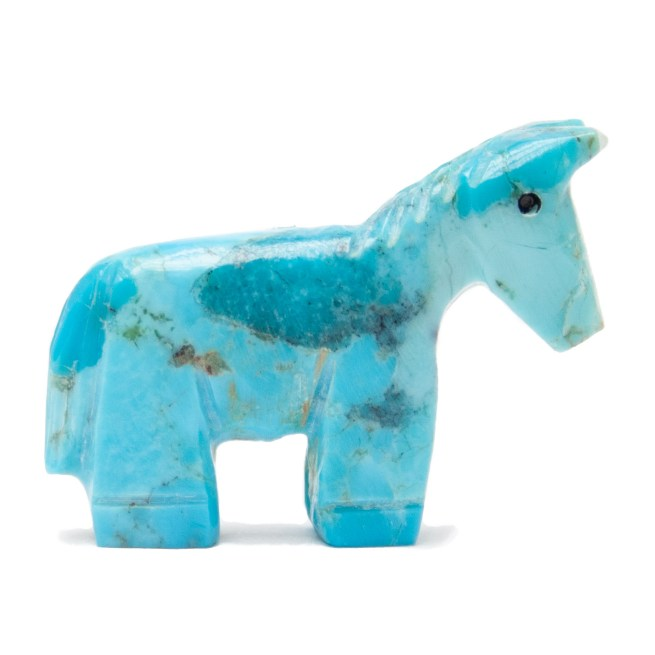 Zuni Turquoise Horse Carving