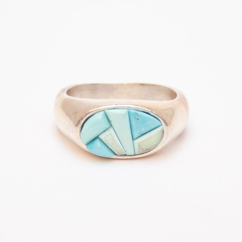 Yazzie Turquoise Mosaic Ring