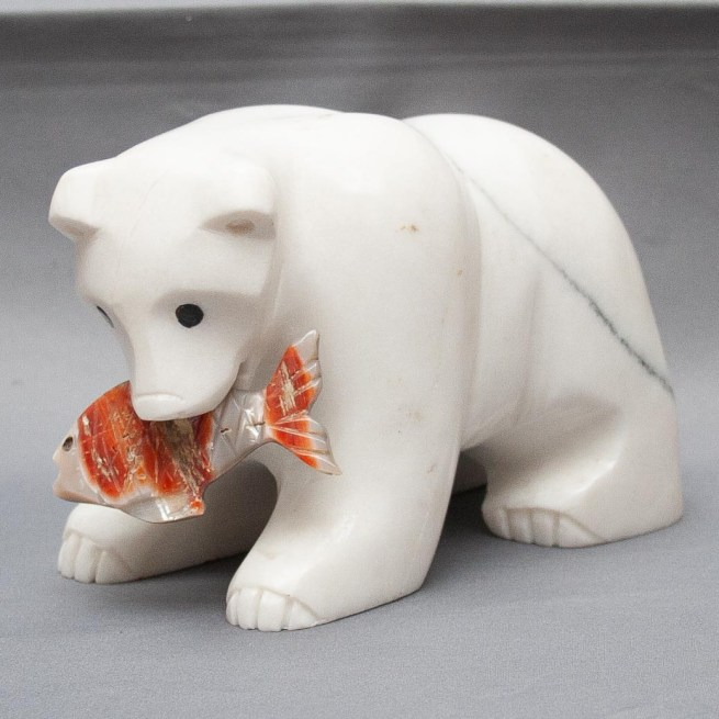 Large White Bear Carving