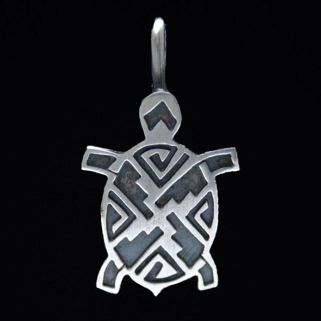 Small Navajo Silver Turtle Pendant