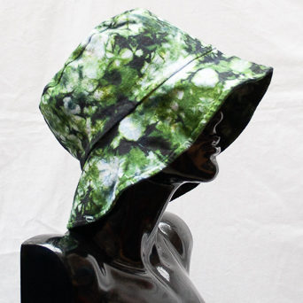 Green Tie-Dye Hat Large