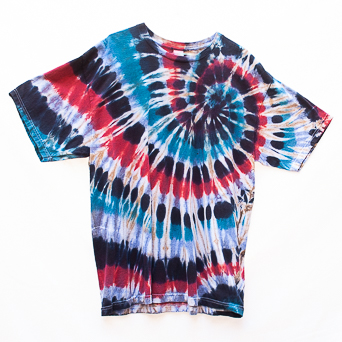 Tricolour Tie-Dye T-Shirt XL