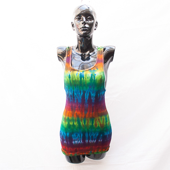 Ribbed Tie-Dye Tank Top XL