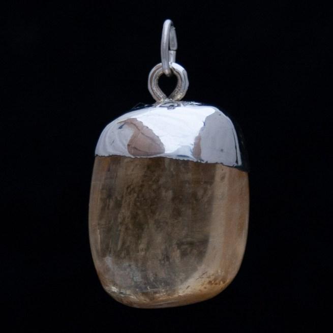 Golden Calcite Silver Pendant