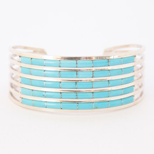 Anson Leticia Wallace Five Row Turquoise Bracelet