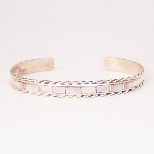Jessica Chavez Pink Mother-of-Pearl Bracelet