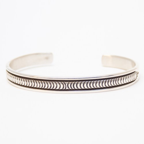 Thin Silver Bracelet by B. Morgan