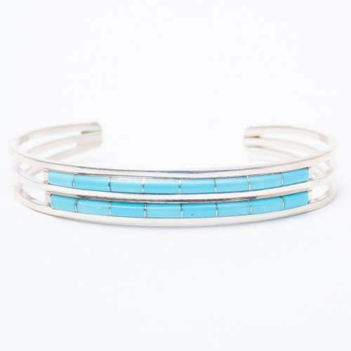 Anson Leticia Wallace Double Row Turquoise Bracelet